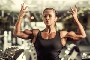 Kvindelig bodybuilder