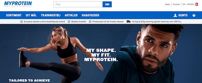 Billigt trænings tøj fra Myprotein