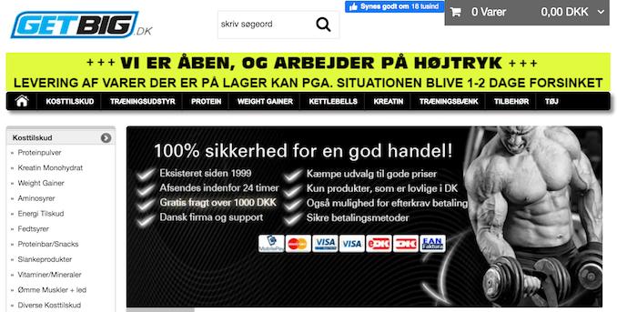 GetBig.dk forside